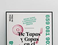 Tapas y Copas en El Molino | Poster