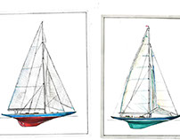Aquarelle and sailboats PART 2