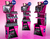 Black micellair Nivea display