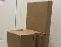 Sustainable cardboard chair