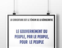 Affiches en hommage à Charlie Hebdo