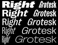 Right Grotesk — huge variable font family | free fonts