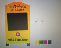 Leanna's wonderland sandwich board