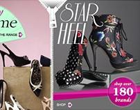 http://VivaLaDiva.com shoe website rebranding