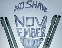 No Shave November typography