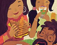 Illustrated Art Prints for ChaiGaram Café