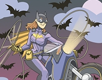Batgirl on bike