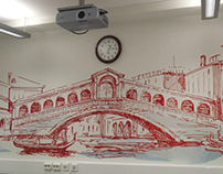 Kimberly-Clark, interior design, mural