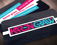 Karen Graw Business Cards - Concept 1