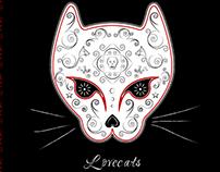 Lovecats free vector mockup