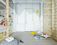 Modern colourful kid room