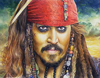 Jack Sparrow - Traditional Art