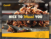 Crazy's Barbeque Landing Page