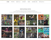 Sportify - Sports stock photo webpage