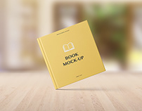 Square Book Mockup – Set 2