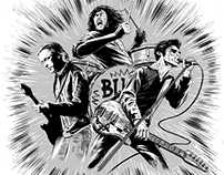 Jon Spencer Blues Explosion Illustration.
