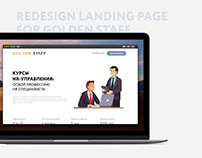 Redesign landing page for GOLDEN STAFF