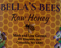Bella's Bees Honey Label