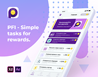 PFI - Simple tasks for rewards. iOS App