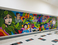 Vic Park Central Mural with Ursula Frayne College