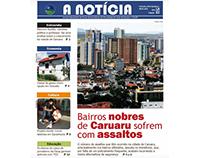 """Matéria de capa: Jornal-laboratório """"A Notícia"""""""