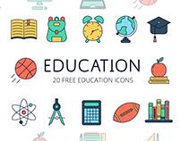 Education Vector Free Icon Set