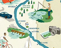 Mississippi River Map - Minnesota Monthly Magazine