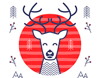 Scandinavian Christmas. Set of vector illustrations