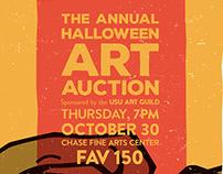 Annual Halloween Art Auction Flyer