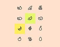 Organic Food Icons Set Free Psd Download