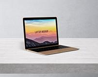 Laptop Mockup – Gold
