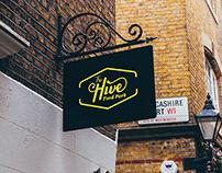 The Hive Food Park Identity Design