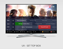 TV / Set Top Box UX Design