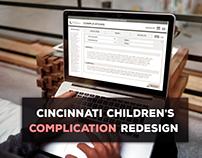 Cincinnati Children's Complication Re-Design