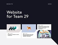 Website for the human rights organization Team 29