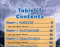 Scholastic book layout: Wild Weather: Rain