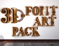 3D Font Art Pack