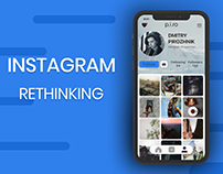 Instagram / UX/UI redesign