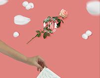 Card & Roses - wedding card