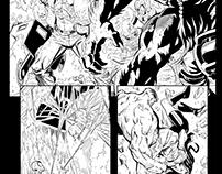 Comic Book Inking Samples
