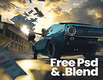 Yey, money for all! free .PSD and .Blend