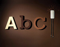 Chocography • alphabet made of solid chocolate