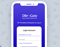 Login Screen | Personal Nutrition Dite App Design