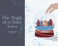 The Magic of a Quiet Town. Illustrations and patterns