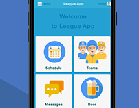 Softball League Mobile App Prototype