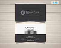 Modern Grey Business Card