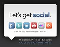 Let's get social, UW-Eau Claire College of Business