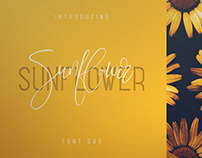 Sunflower font duo. Free Font