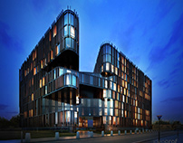 Hotel Concept, Second Version, Warsaw, Poland