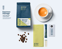 Coffee packaging mockup template
